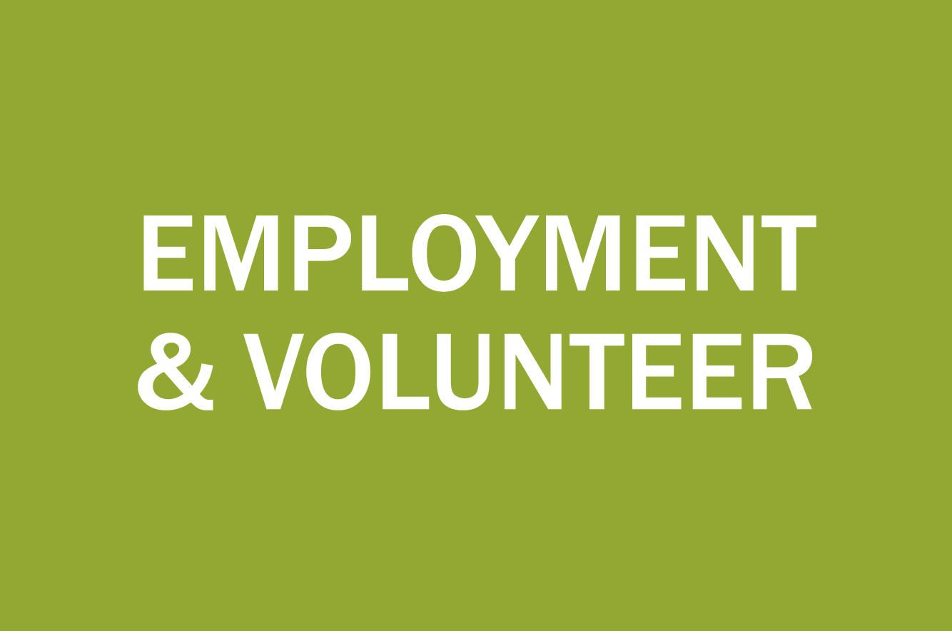 Employment and volunteer opportunities icon